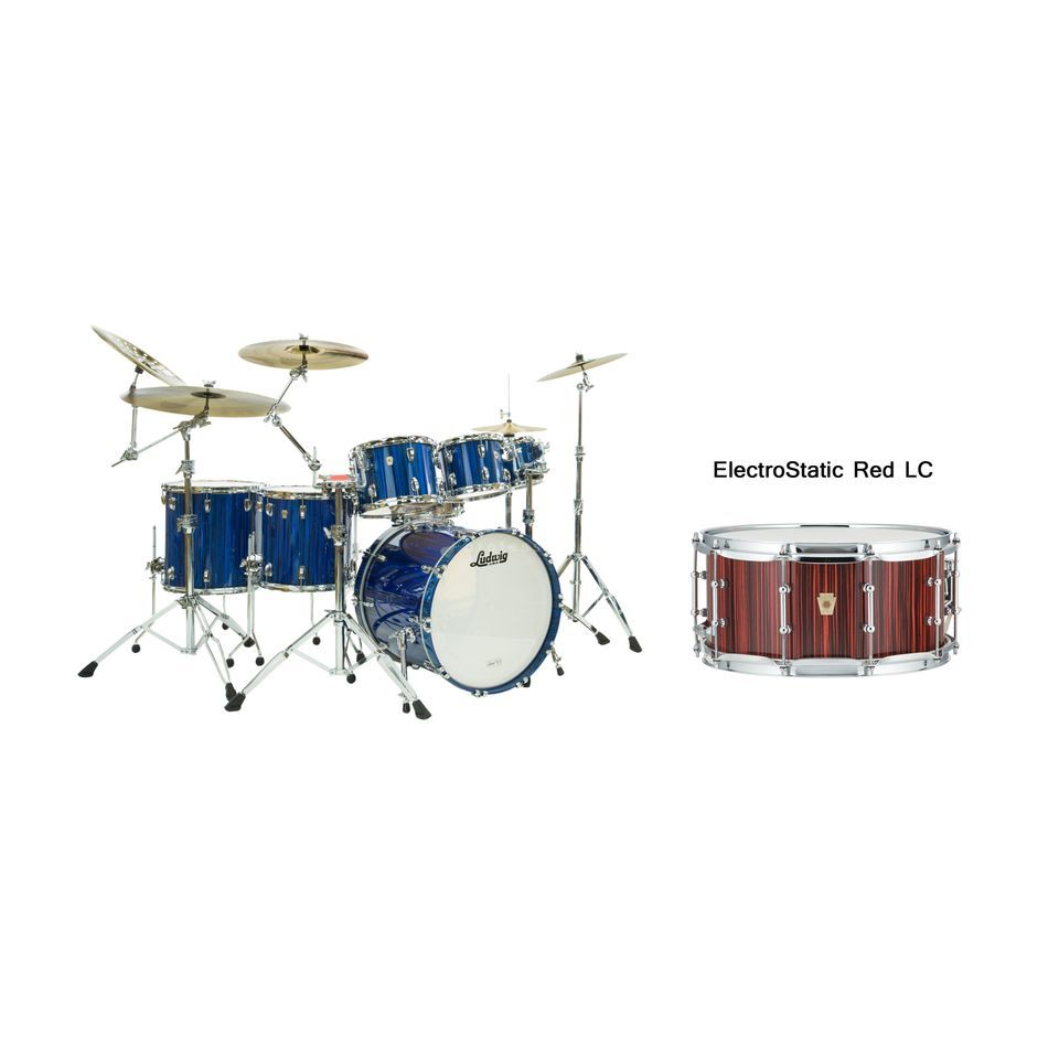 Ludwig Classic Maple Electrostatic ShellSet, Red Productafbeelding