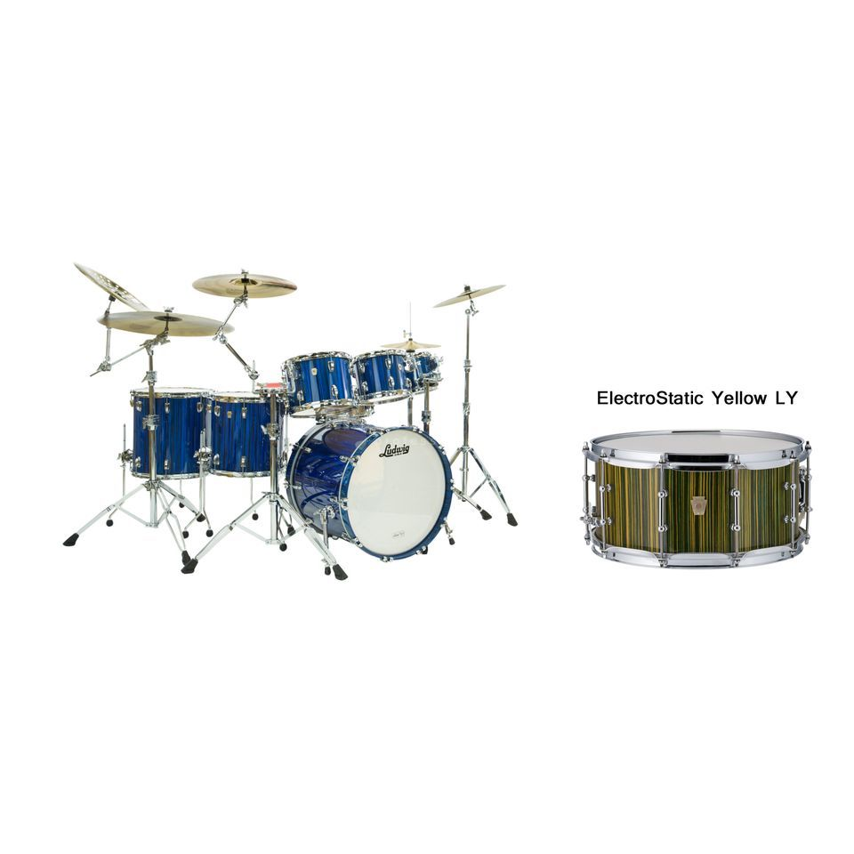 Ludwig Classic Maple Electrostatic ShellSet, Yellow Produktbillede