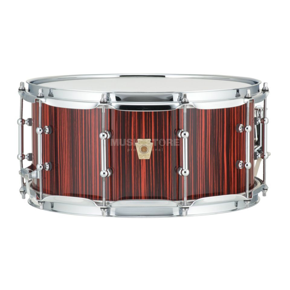 "Ludwig Classic Maple Electrostatic Snare 14""x6,5"", Red Product Image"