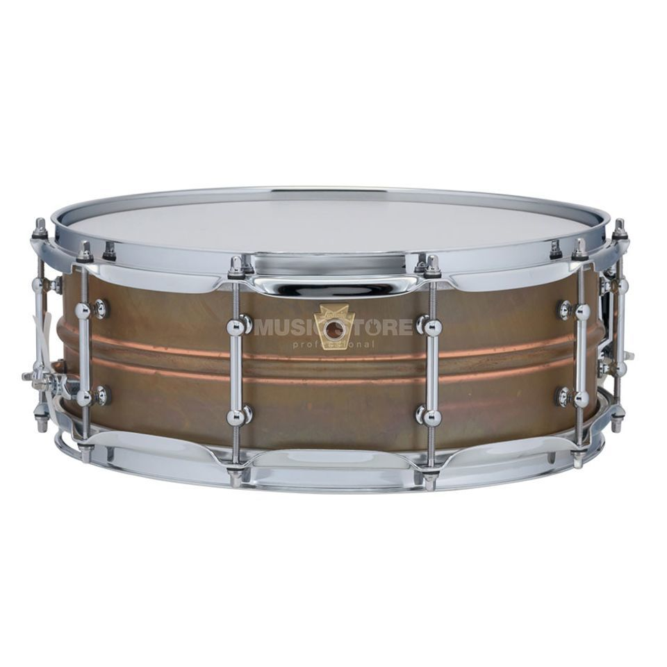 "Ludwig Copper Phonic Snare LC661T, 14""x5"", Raw Copper Product Image"