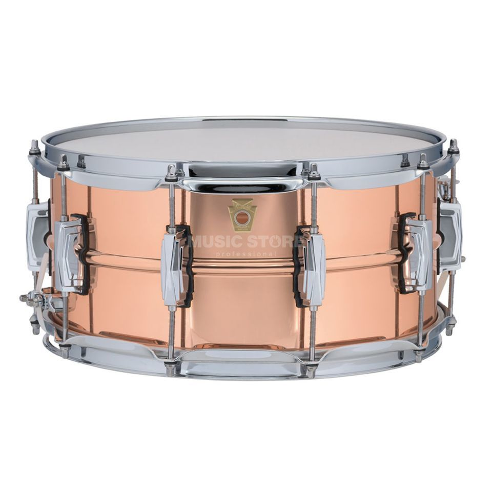 "Ludwig Copper Phonic Snare LC662, 14""x6,5"", Smooth Copper Produktbillede"