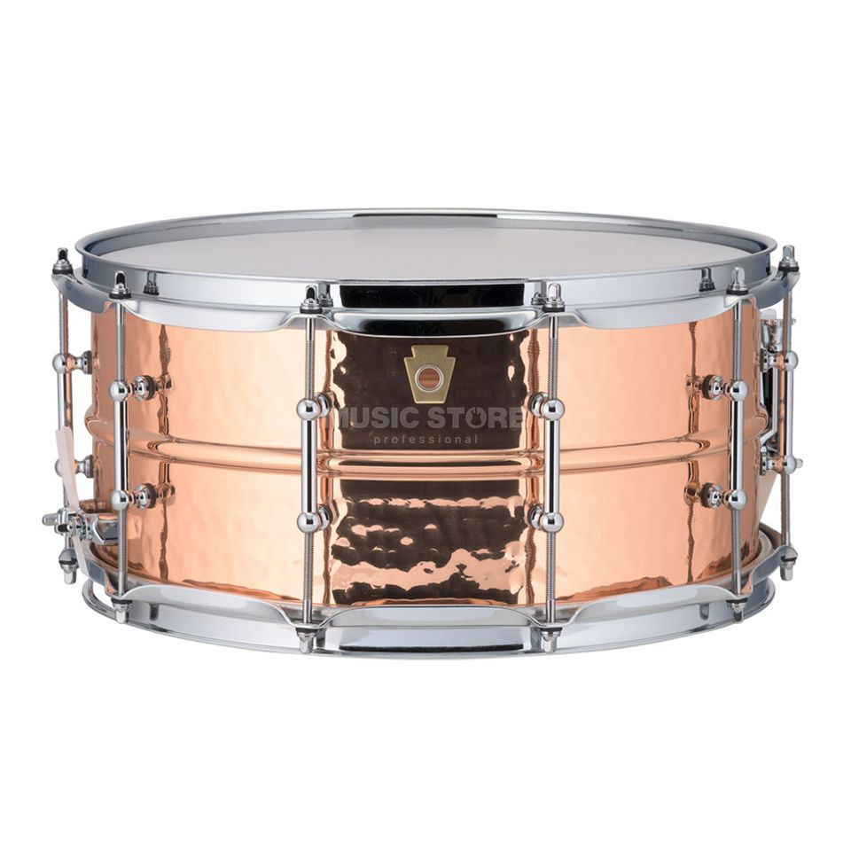 "Ludwig Copper Phonic Snare LC662KT, 14""x6,5"", Hammered Copper Produktbillede"