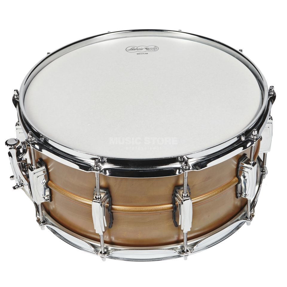 "Ludwig Copper Phonic Snare LC663, 14""x6,5"", Raw Patina Copper Produktbillede"