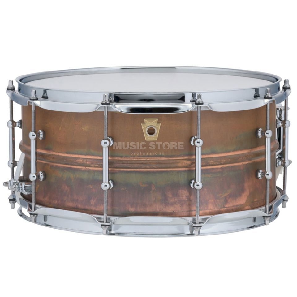 "Ludwig Copper Phonic Snare LC663T, 14""x6,5"", Raw Copper Produktbillede"