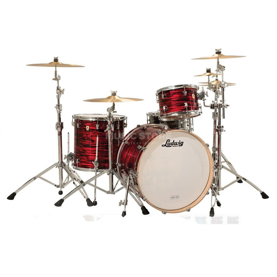 "Ludwig Keystone ""Power Beat"" ShellSet Red Oyster Produktbillede"