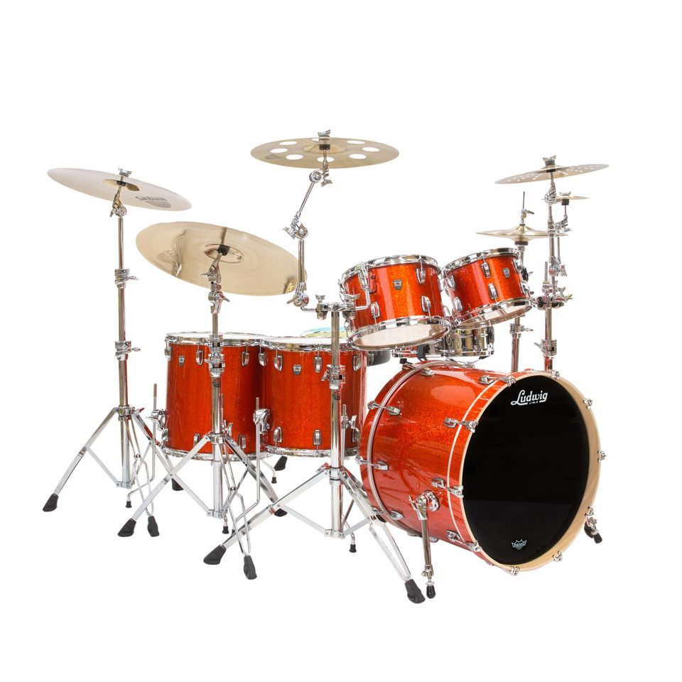 Ludwig Keystone X Big Beat L7024AX2F, Orange Glitter Produktbillede