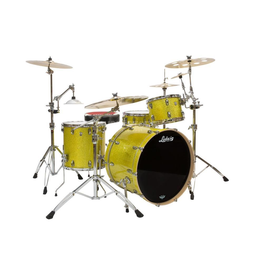 Ludwig Keystone X Big Beat L7024AXT9, Yellow Glitter Product Image