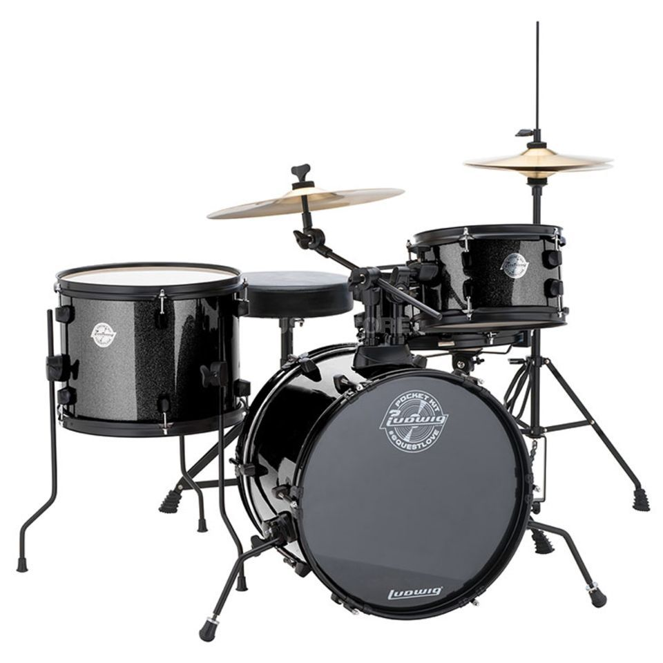 Ludwig Pocket Kit, Black Sparkle Produktbillede