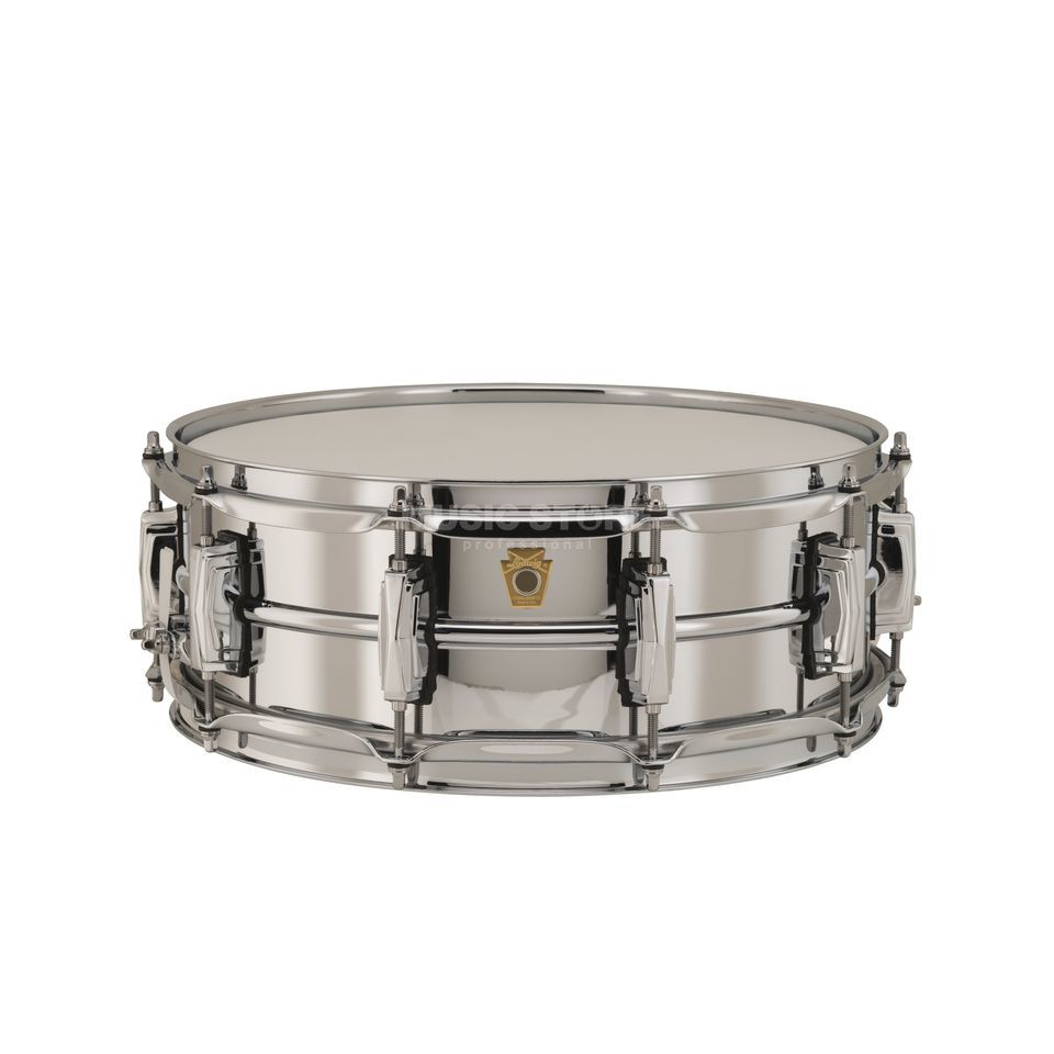 "Ludwig Supra Phonic Snare LB400B, 14""x5"", Chrome over Brass Product Image"
