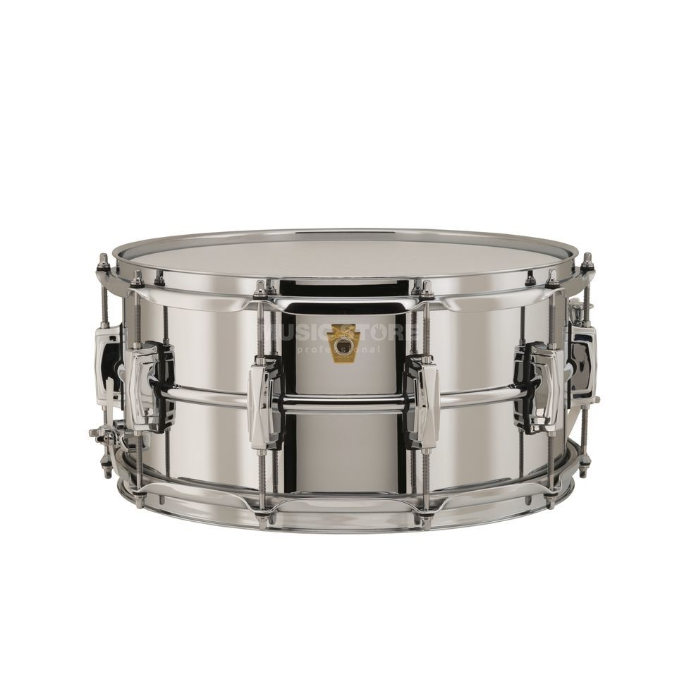 "Ludwig Supra Phonic Snare LB402B, 14""x6,5"", Chrome over Brass Product Image"