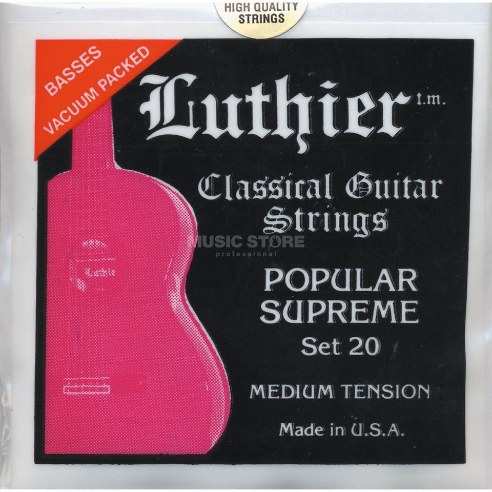 Luthier Popular Supreme #20 Medium Tension Produktbild