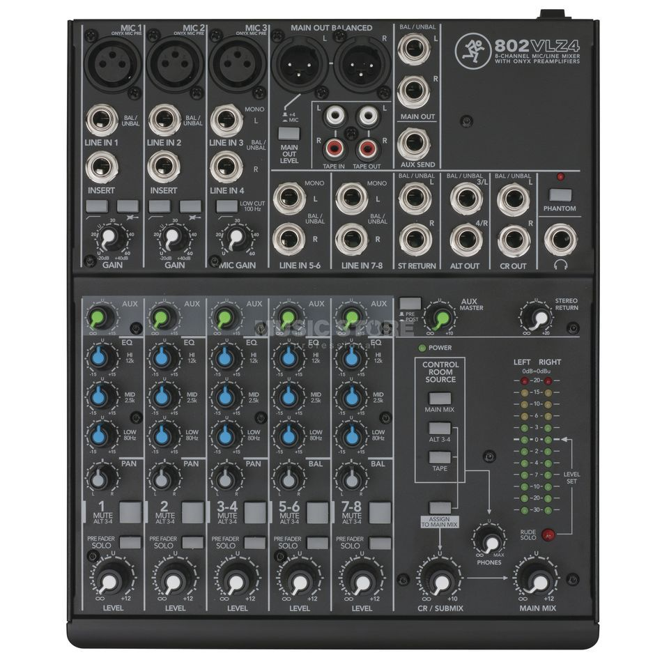 Mackie 802VLZ4, 8 channel ultra compact mixer Product Image