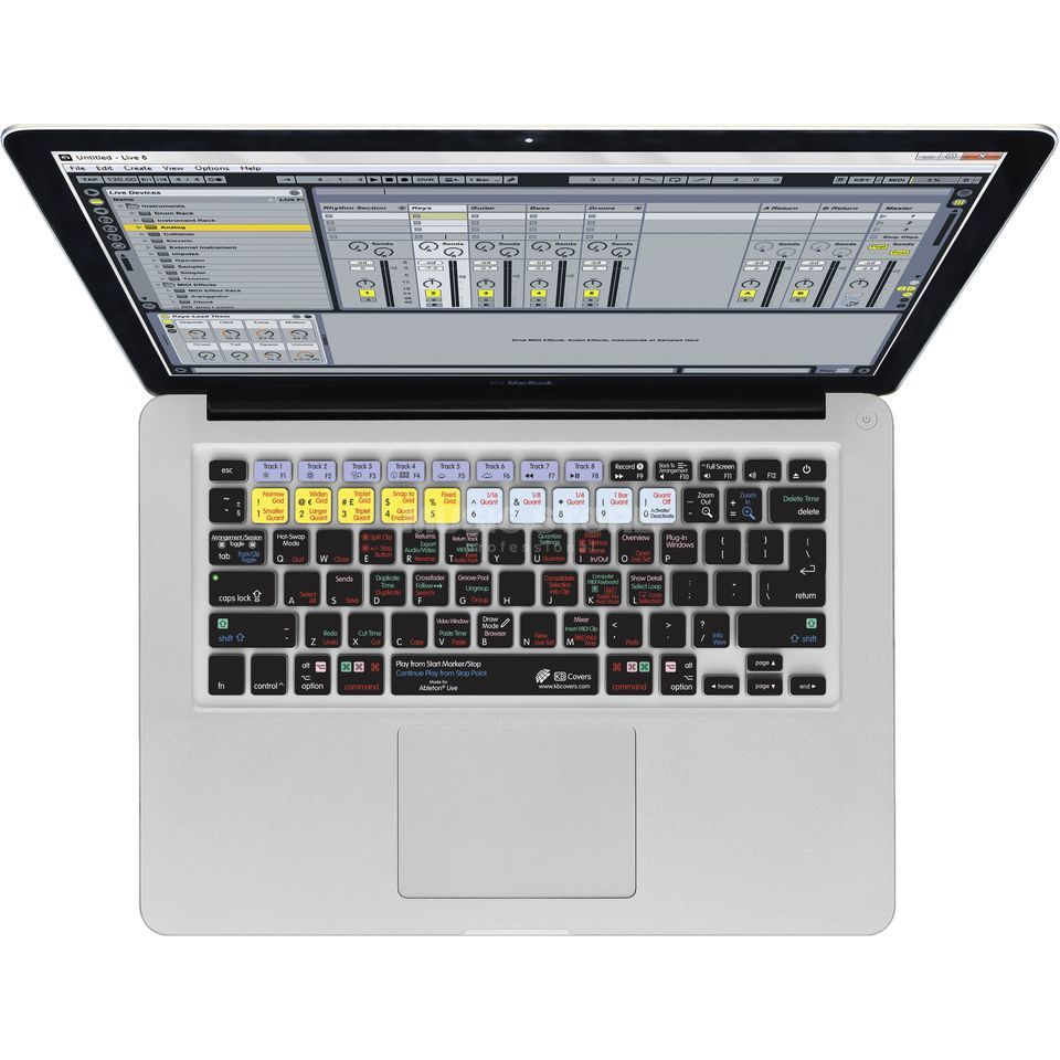 Magma Keyboard Cover Ableton Live 9 voor MacBook & MacBook Air Productafbeelding