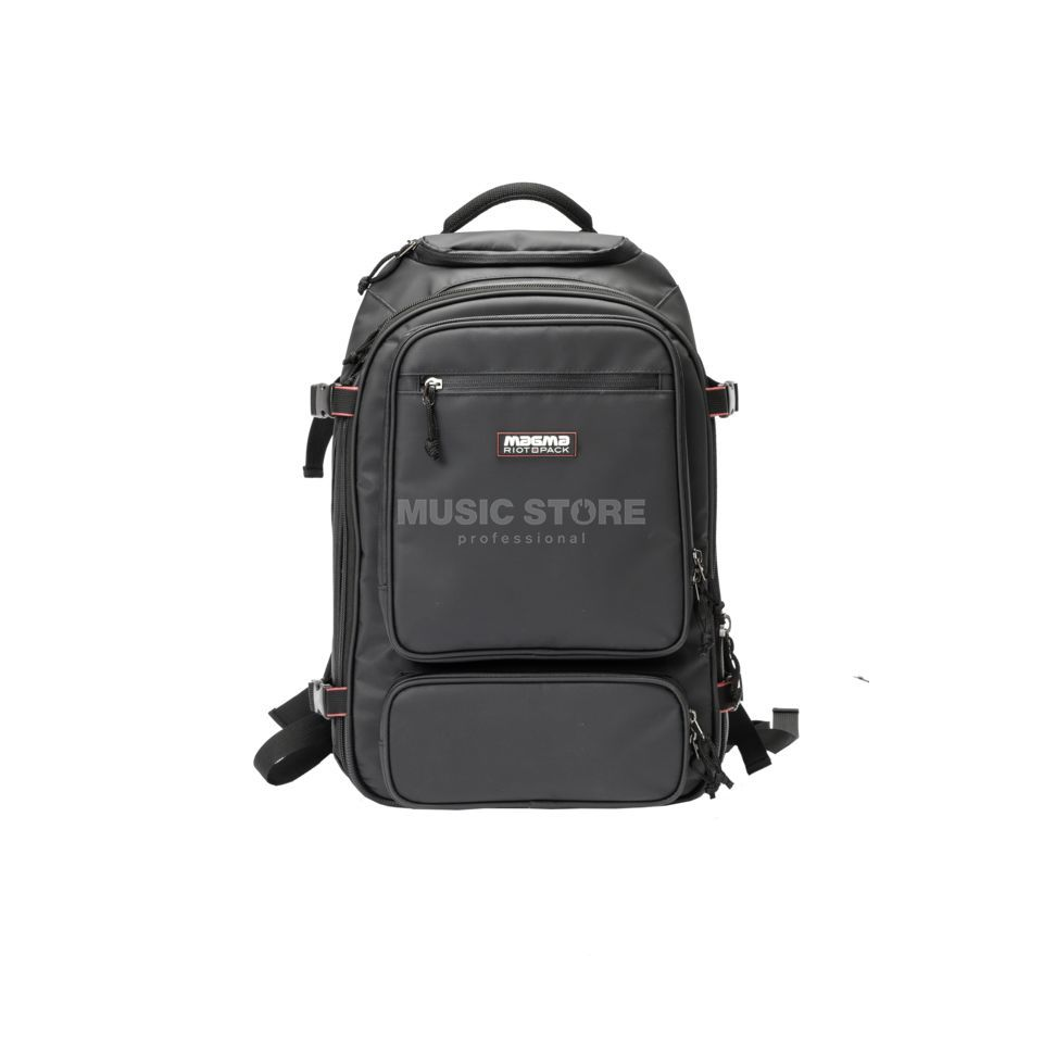 Magma Riot DJ-Backpack black/red Immagine prodotto