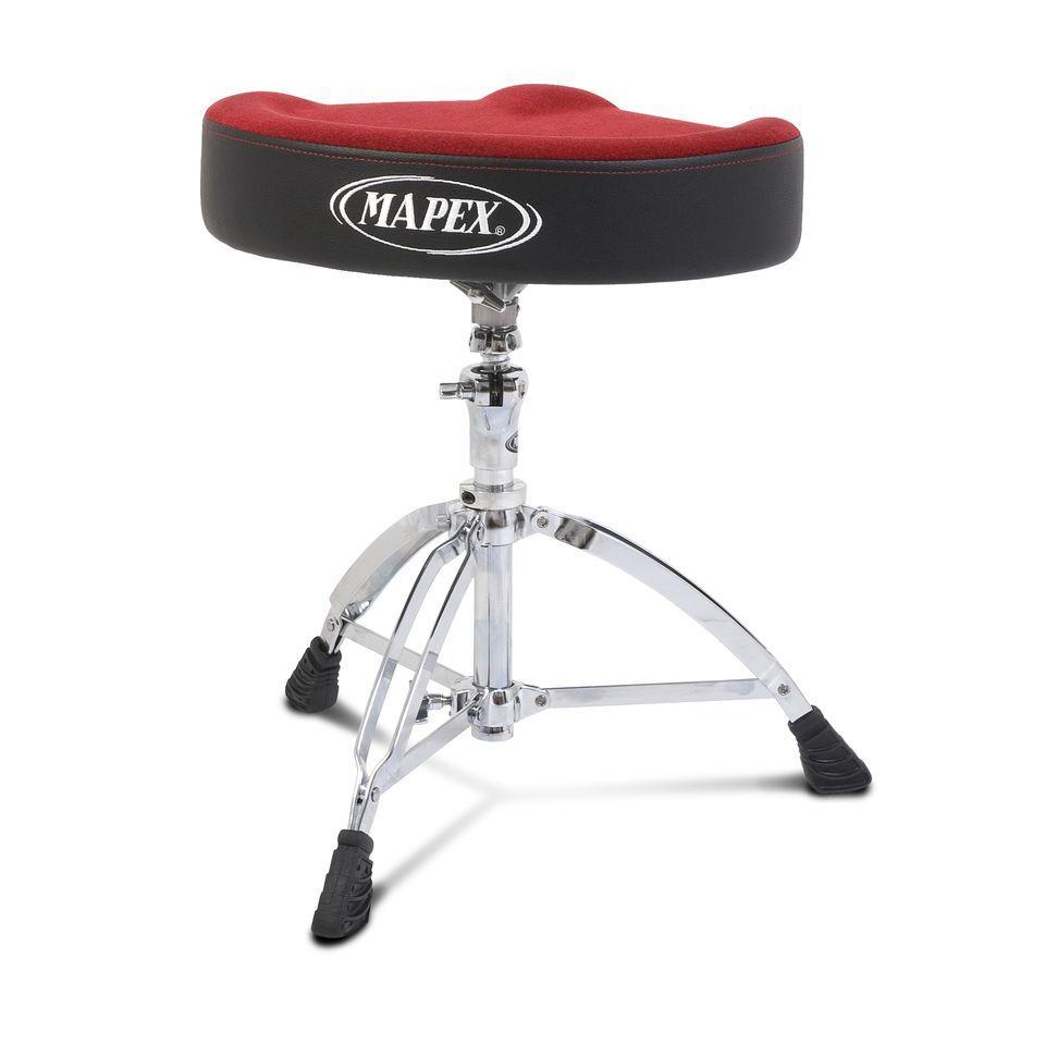 Mapex Drumhocker MXT765ASER, Sattel, rote Sitzfläche | MUSIC