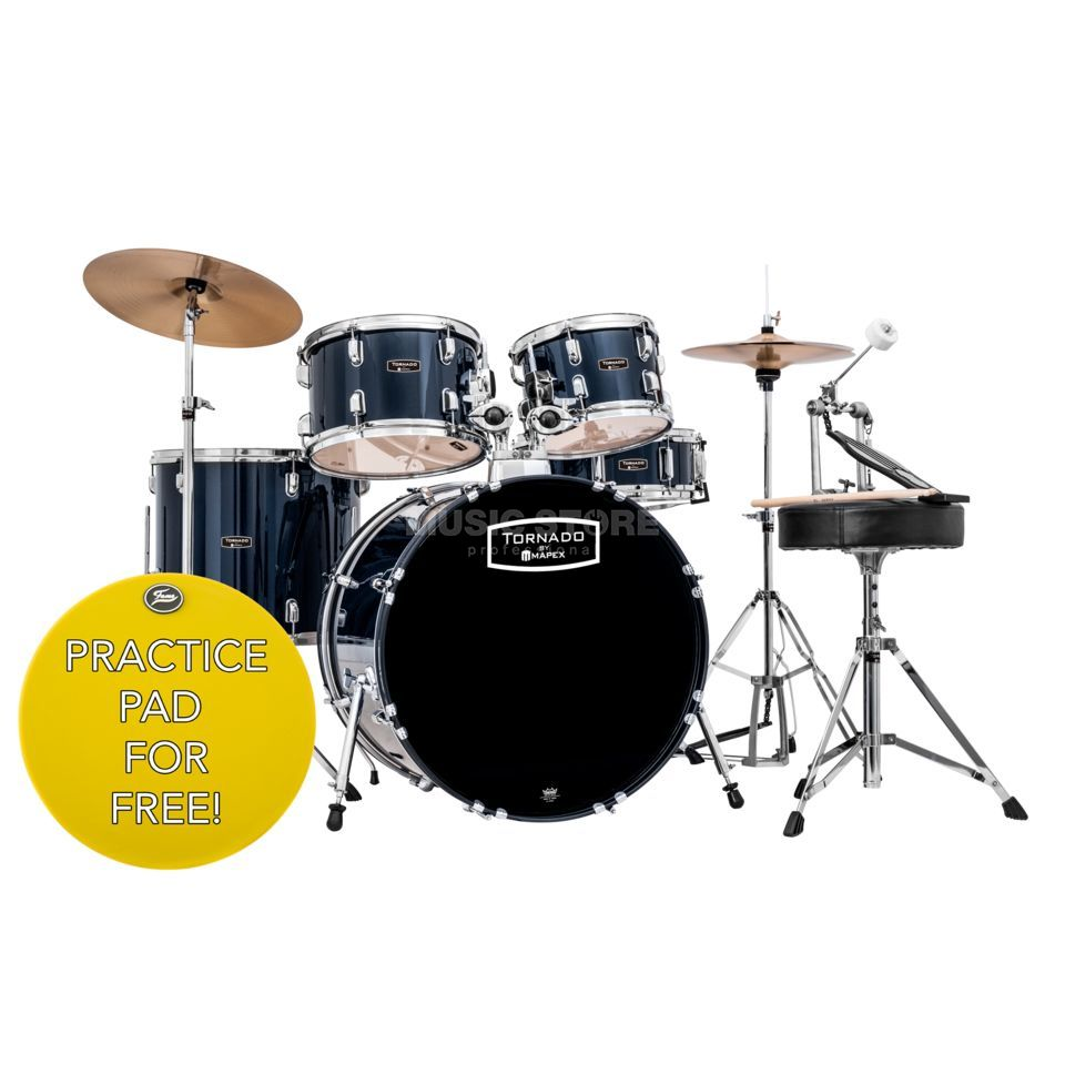 Mapex Tornado Complete Set TND5044TC Royal Blue #YB Product Image