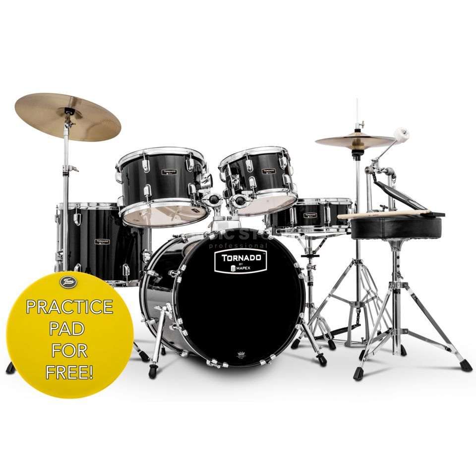 Mapex Tornado Komplettset Junior TND5844FTC, Black Product Image