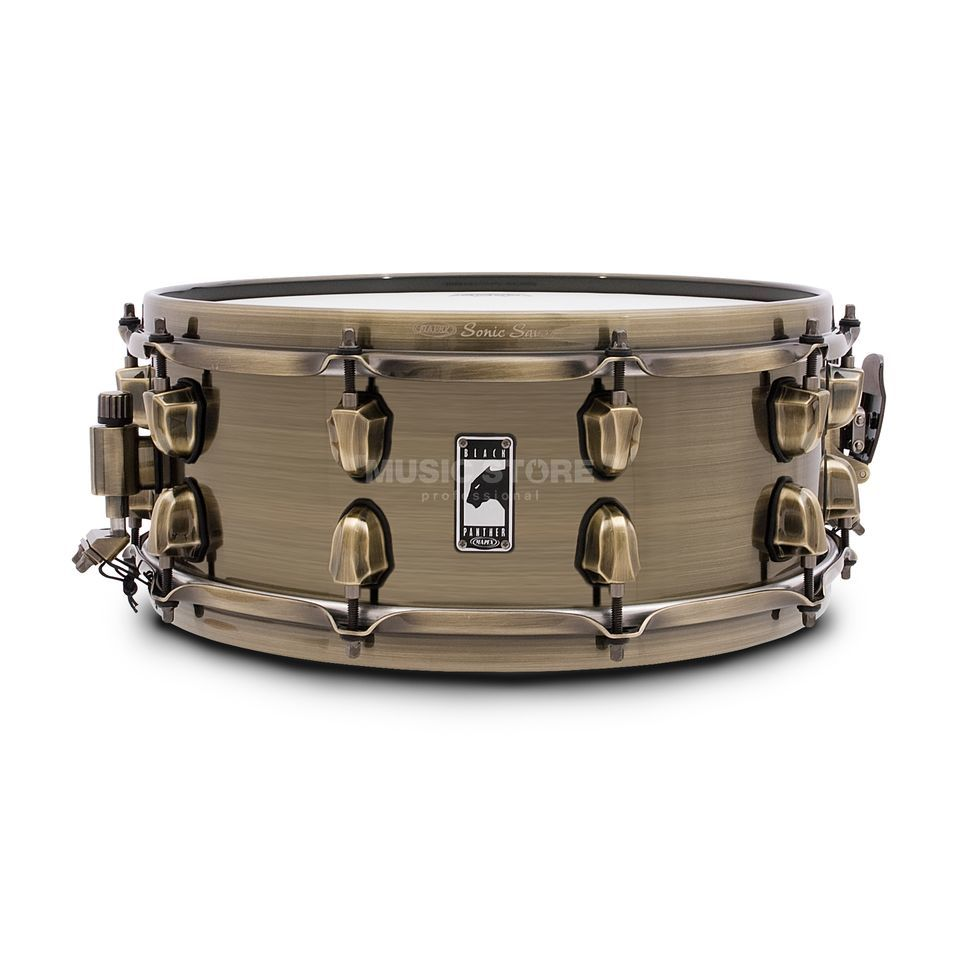 "Mapex zwart Panther Snare 14""x5,5"", ""The Brass Cat"" Productafbeelding"