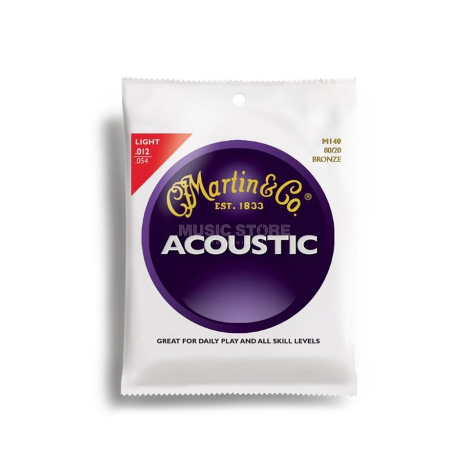 Martin Guitars A-Guitar Strings 12-54 M140 Bronze Product Image
