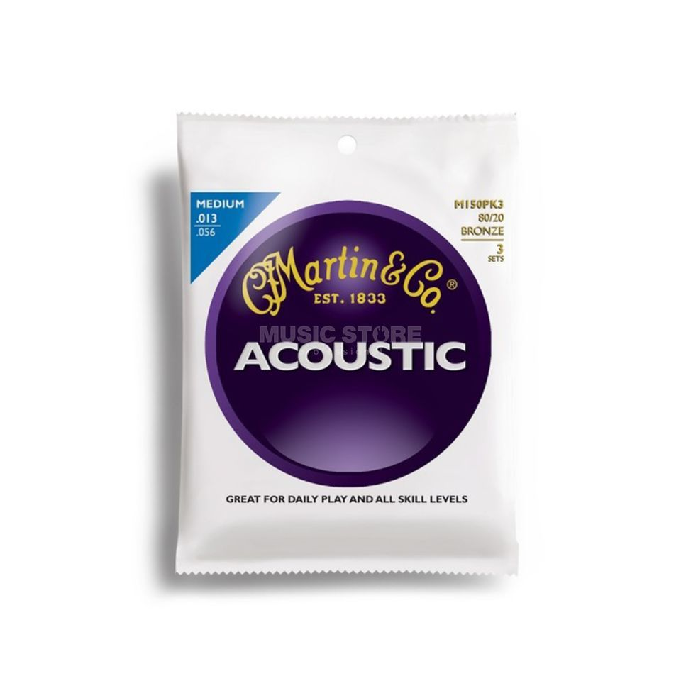 Martin Guitars A-Guitar Strings 13-56 M150 Bronze 3-Pack Produktbillede
