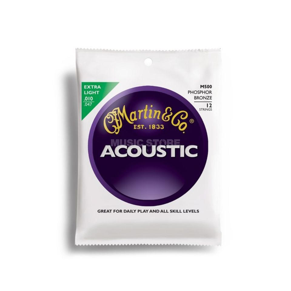 Martin Guitars Cordes guitare acoustique, 10er,12-cordes M500,Light Image du produit