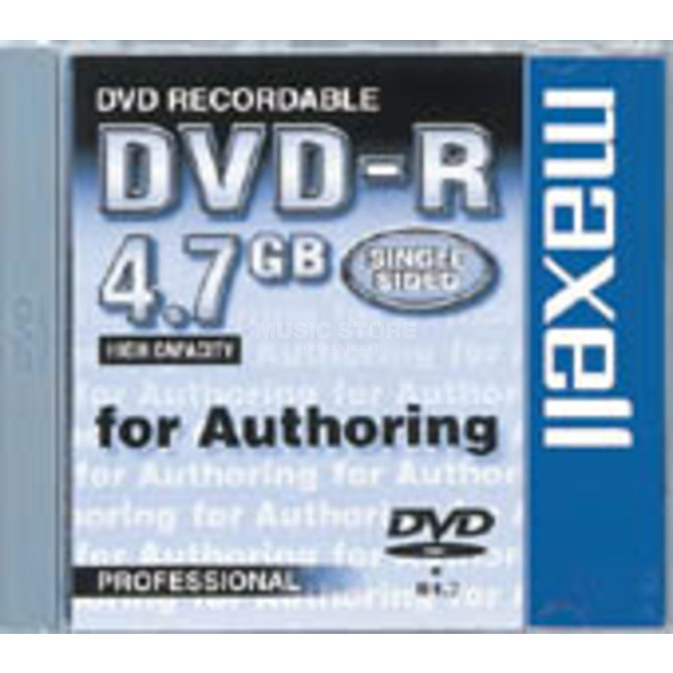 Maxell Rec.DVD-R 4,7 GB Authoring Single Sided DVD-Rohling Produktbild