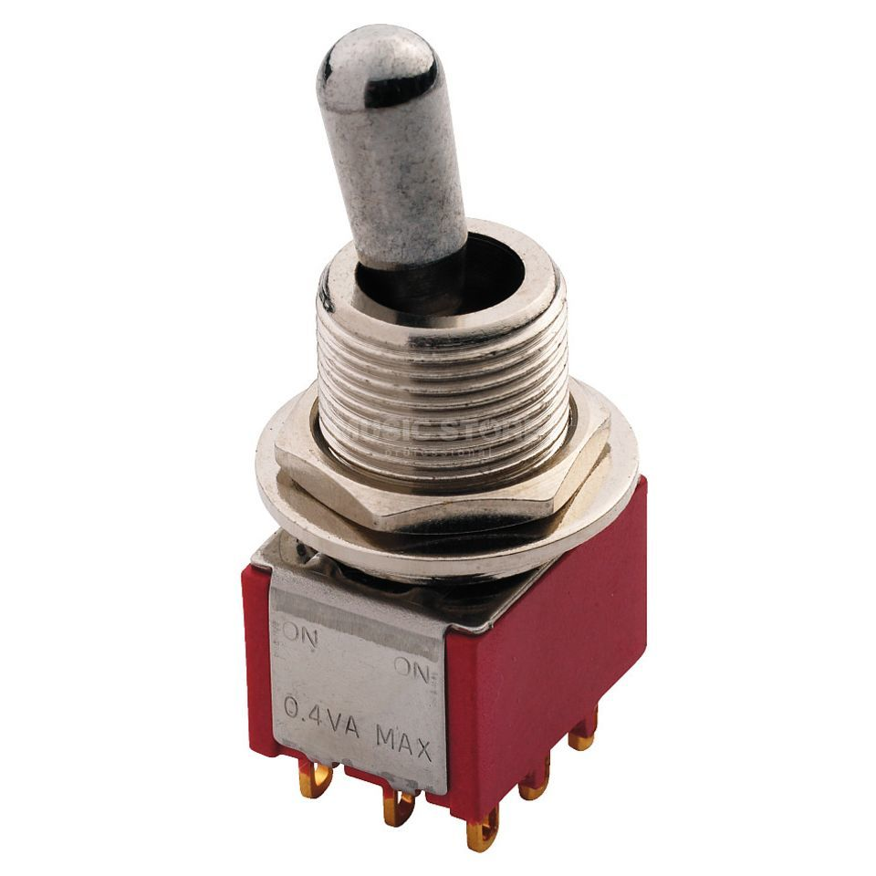 MEC Maxi Toggle Switch chrome on-on 3PDT Imagem do produto