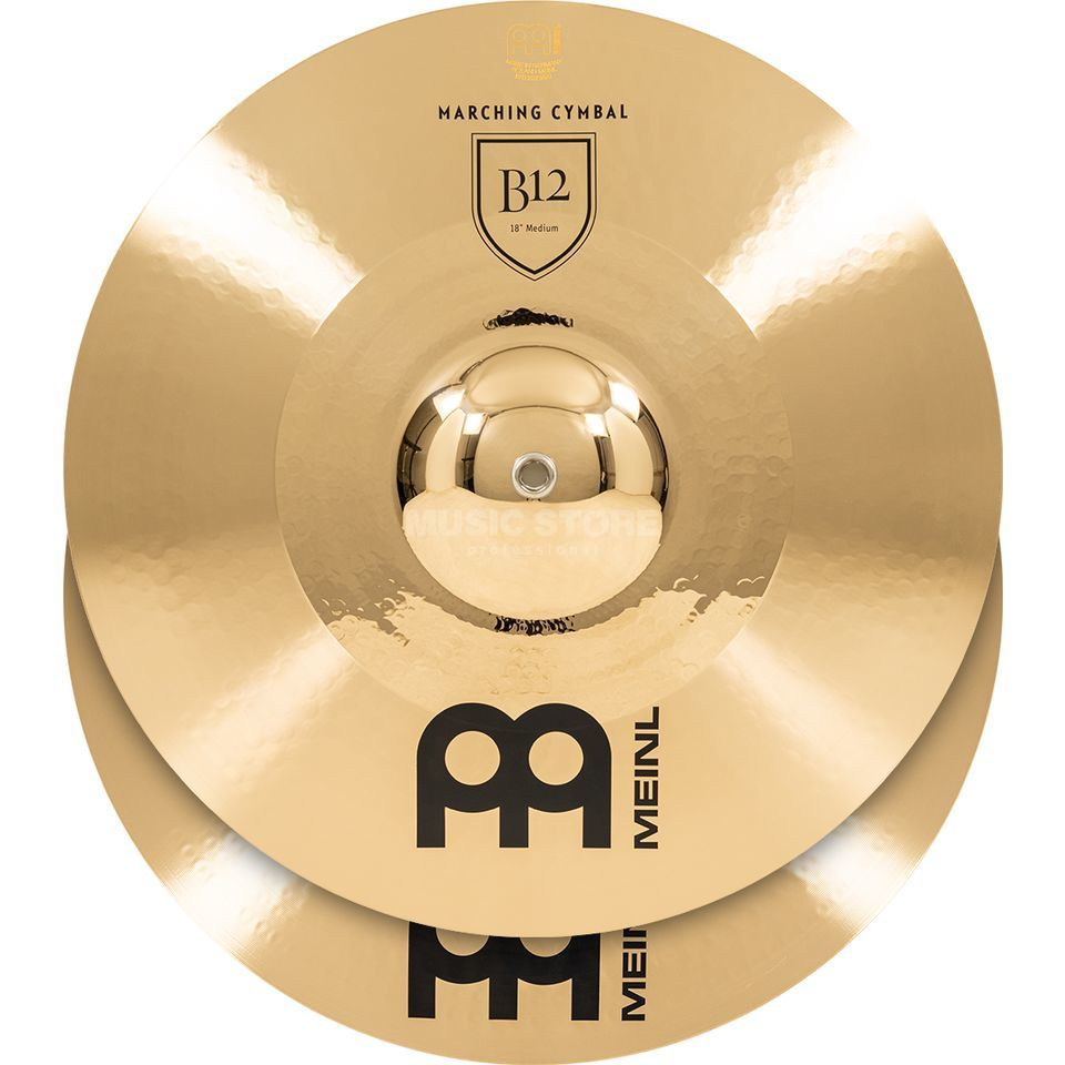 "Meinl B12 Marching Cymbals 18"", Medium, MA-B12-18M Product Image"