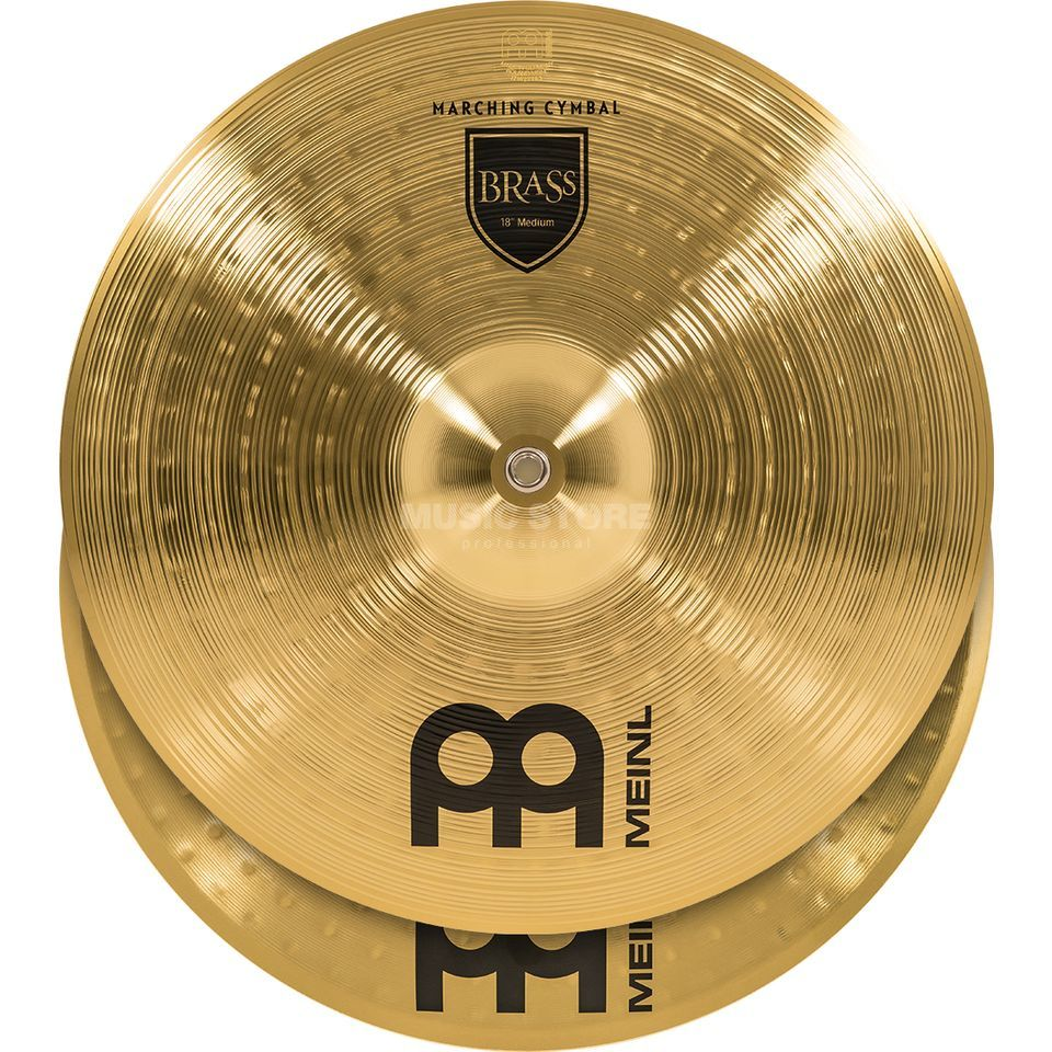 "Meinl Brass Marching Cymbals 18"", MA-BR-18M, Student Range Product Image"