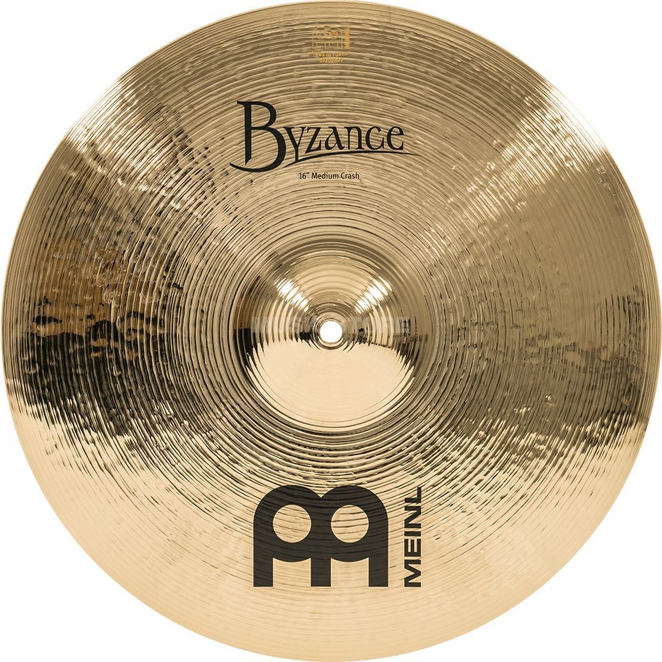 "Meinl Byzance Medium Crash 16"" B16MC-B, Brilliant Produktbillede"