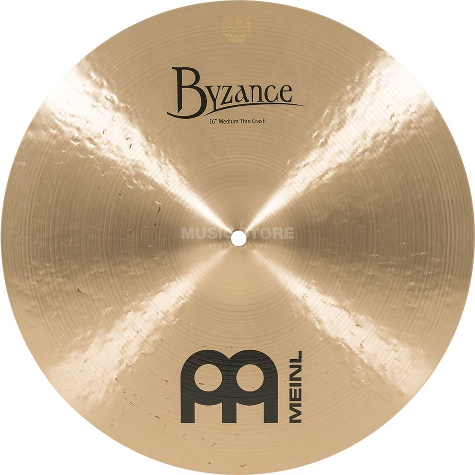 "Meinl Byzance Medium Thin Crash 16"" B16MTC,Traditional Finish Productafbeelding"