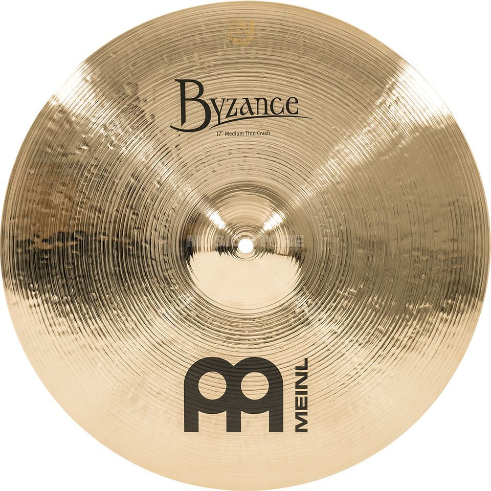 "Meinl Byzance Medium Thin Crash 17"" B17MTC-B, Brilliant Finish Product Image"