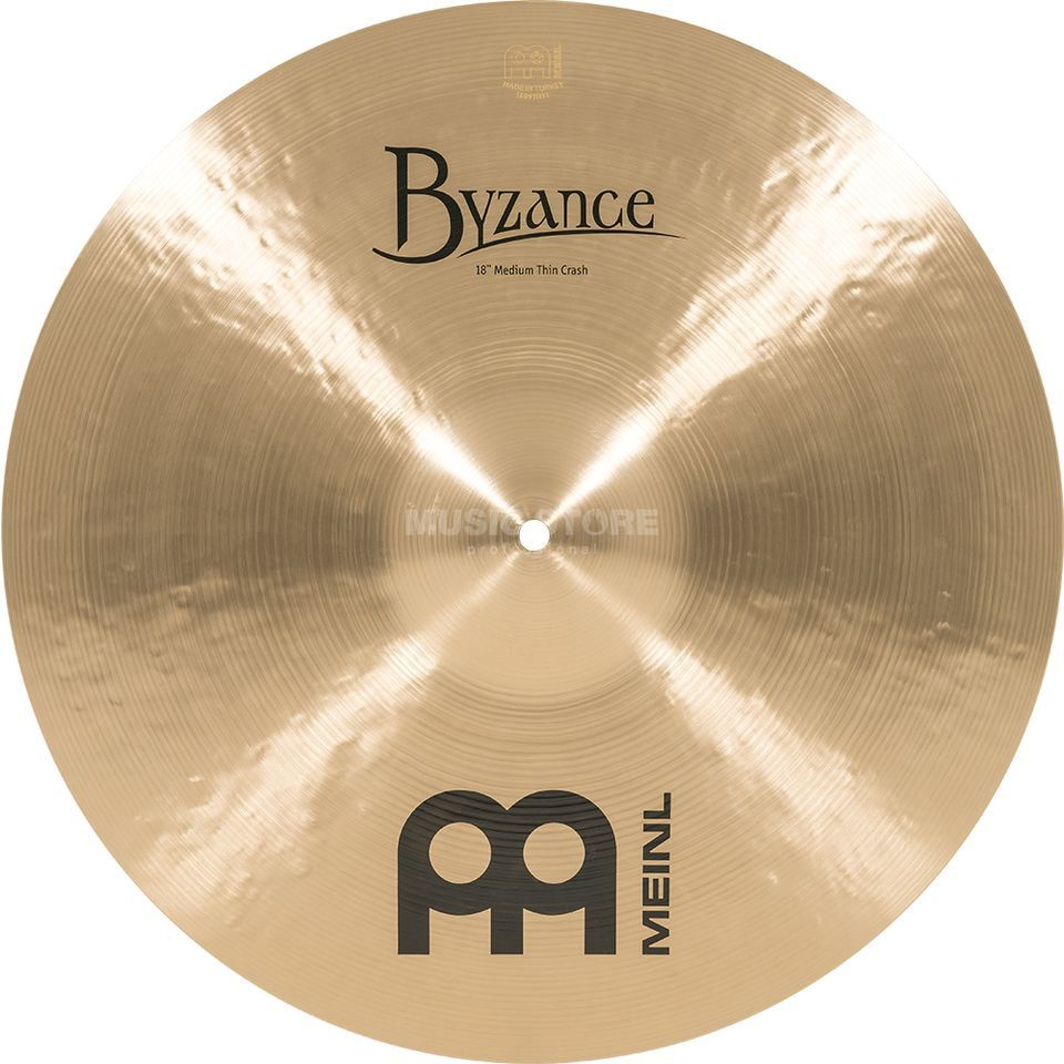 "Meinl Byzance Medium Thin Crash 18"" B18MTC, Traditional Finish Imagem do produto"