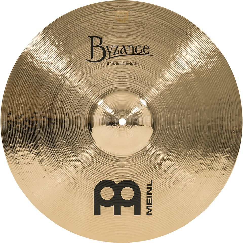 "Meinl Byzance Medium Thin Crash 19"" B19MTC-B, Brilliant Finish Produktbild"