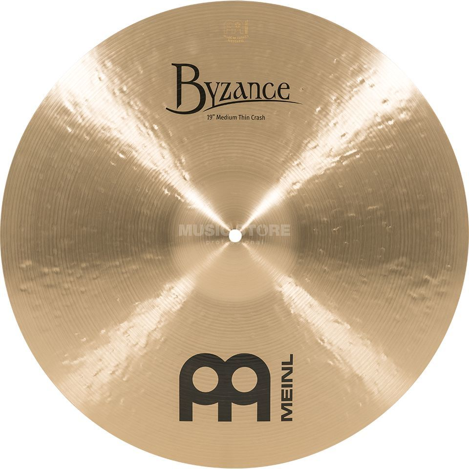 "Meinl Byzance Medium Thin Crash 19"" B19MTC,Traditional Finish Product Image"