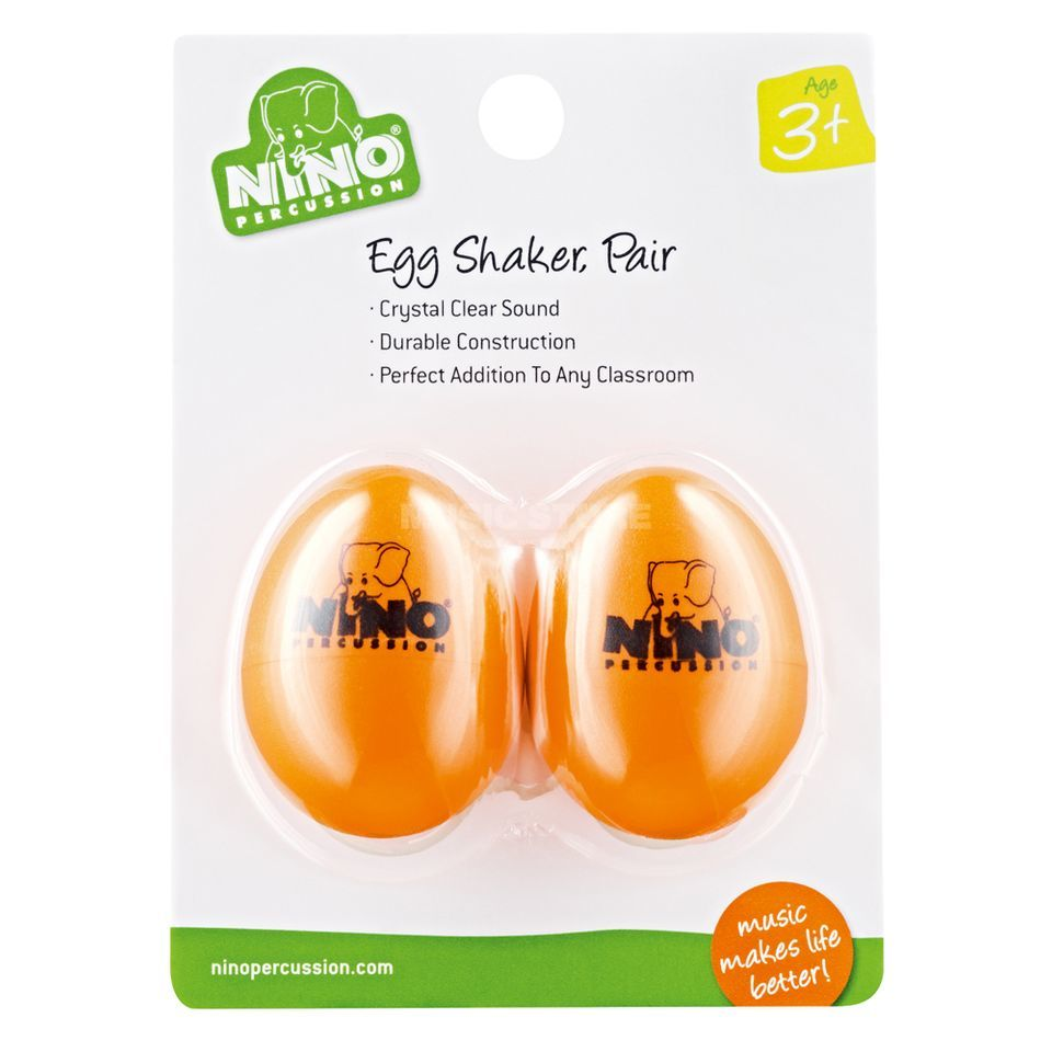 Meinl Egg Shaker Set NINO540OR-2, Orange, 2 pcs Produktbild