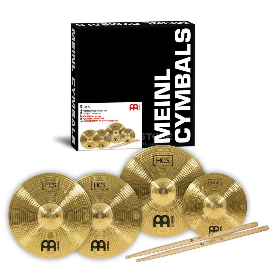 "Meinl HCS Cymbal Set 13""HH, 14""C, 10"" SP + Sticks Produktbild"