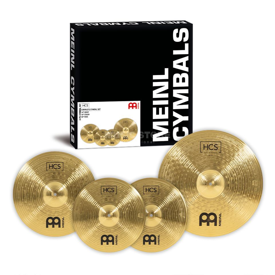 "Meinl HCS Cymbal Set 20"" Ride,16"" Crash,14"" HiHat Product Image"