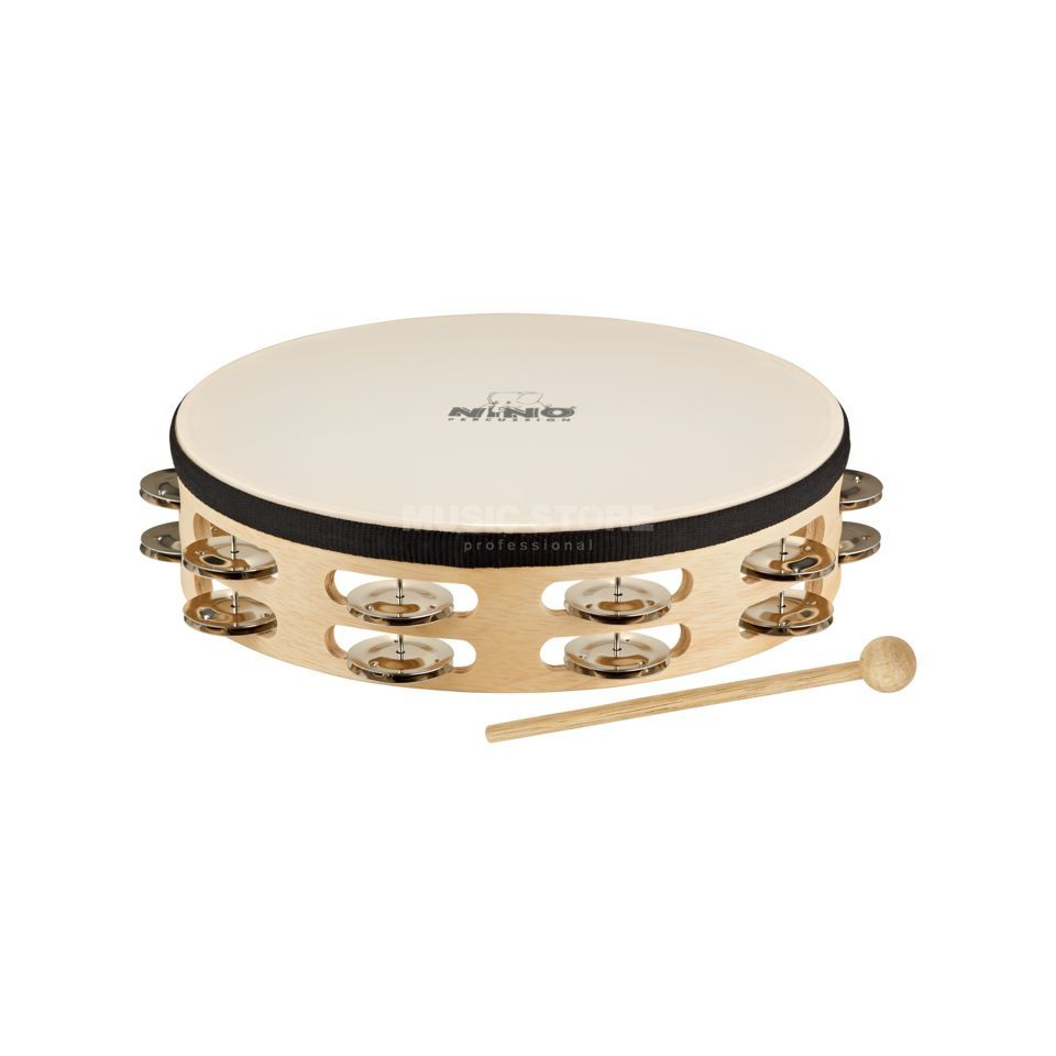 Meinl Headed Tambourine NINO26, steel jingles, double-rowed Produktbillede