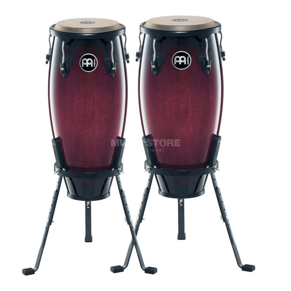 "Meinl Headliner Conga Set HC555-WRB, 10""+11"", Wine Red Burst #WRB Product Image"
