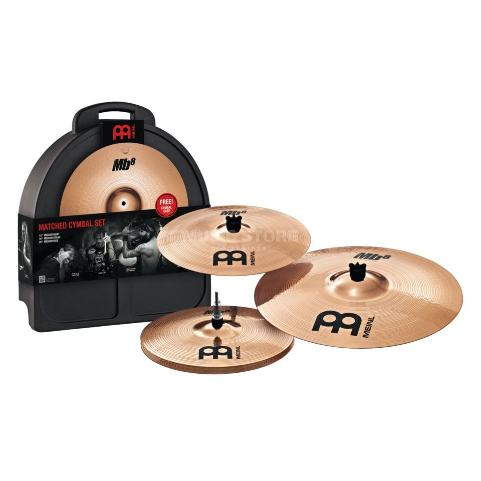 "Meinl MB8 Cymbal Set, MB8-141620M, 14""HH,16""Cr,20""R, Overstock Produktbillede"