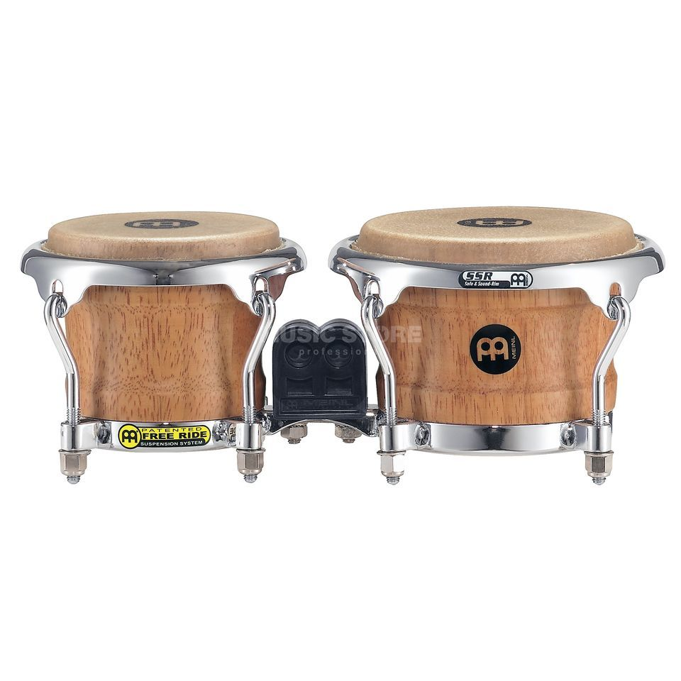 "Meinl Mini Bongos FWB100, 3 1/2""+4 1/4"", Super Natural Product Image"