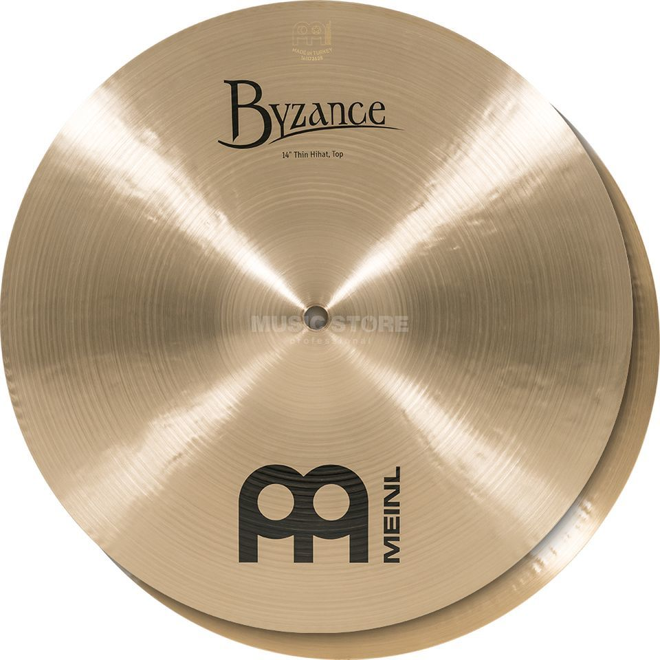 "Meinl Pratos de Choque Byzance Thin HiHat 14"", B14TH, Traditional Finish Imagem do produto"