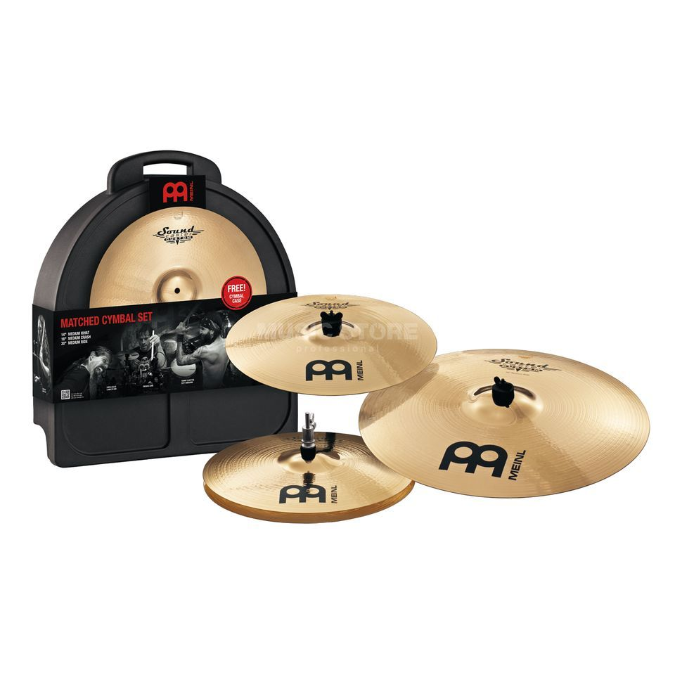 "Meinl SoundCaster Custom CymbalSet, SC141620M, 14""HH,16""CR,20""R Product Image"