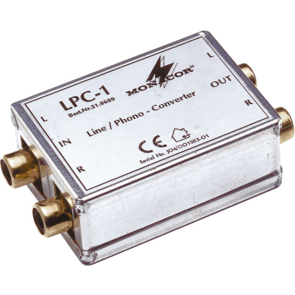 Monacor LPC-1 / Phono-Line Converter Cinch Product Image
