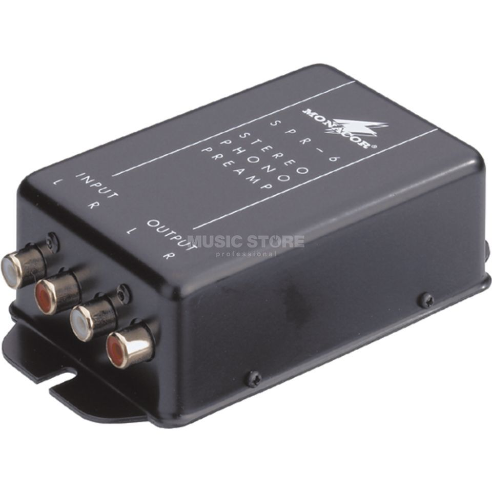 Monacor SPR-6 / Phono Preamp connection on line input Produktbillede
