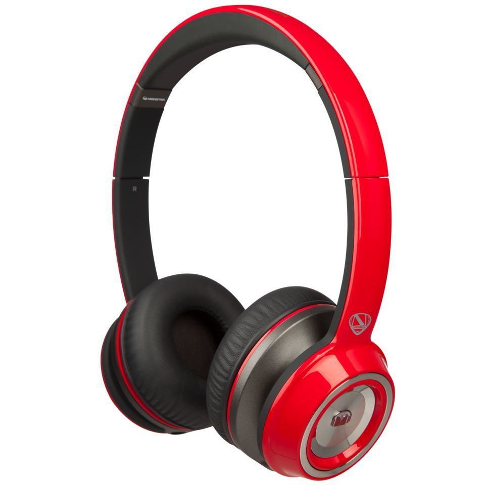 Monster N-Tune Solid Red On-Ear Kopfhörer Produktbillede