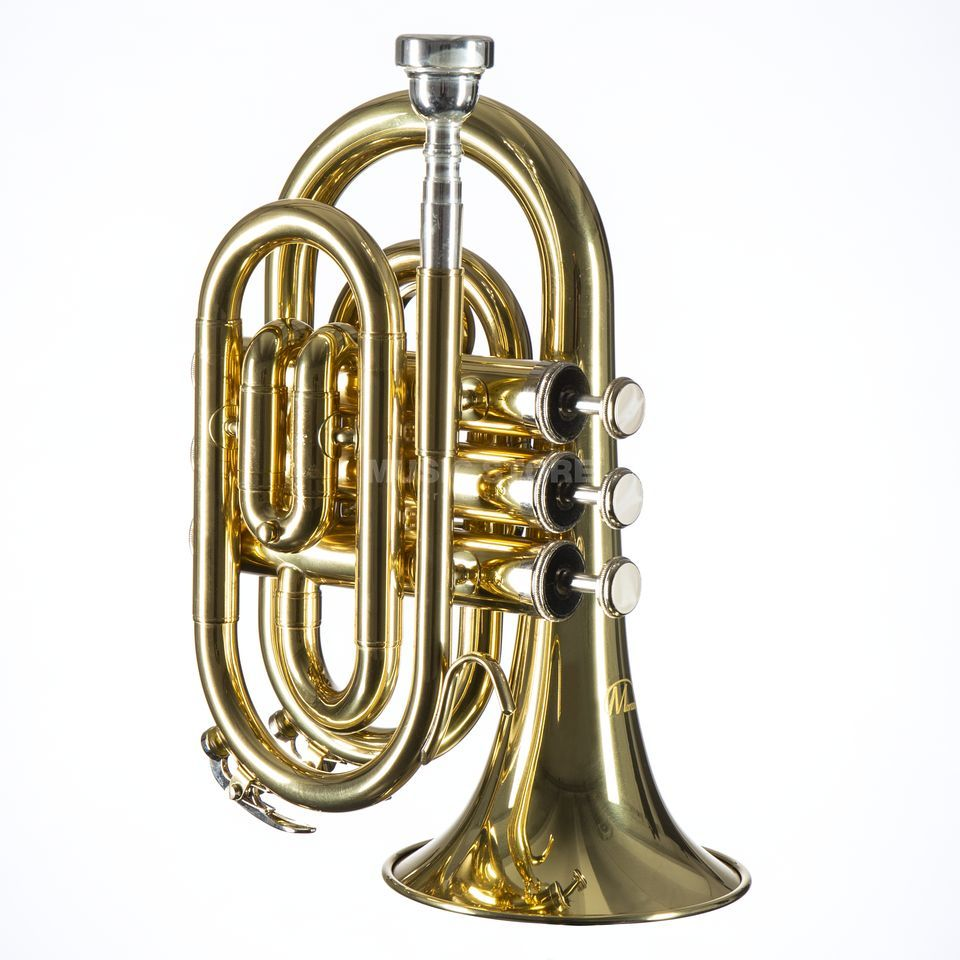 Monzani MZMT-500L Bb-Pocket Trumpet Brass, Lacquered Изображение товара