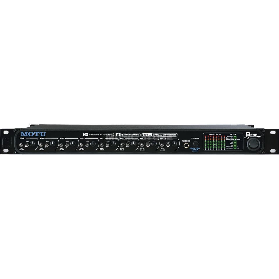 MOTU 8Pre Firewire Audio Interface  8 Mic Preamps Product Image