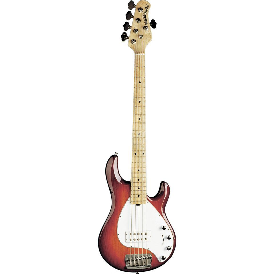 Music Man StingRay 5 MN Honey Burst wit Pickguard, case Productafbeelding